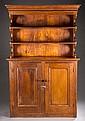 19th c. Pine china cabinet.