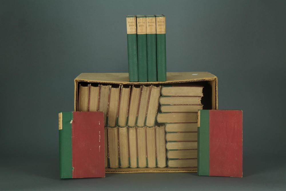 Lot 304: 168 vols. The British Essayists and Poets. 1864-6.