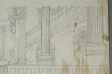 Lot 268: Allyn Cox. Masonic Temple Grand Hall Mural.