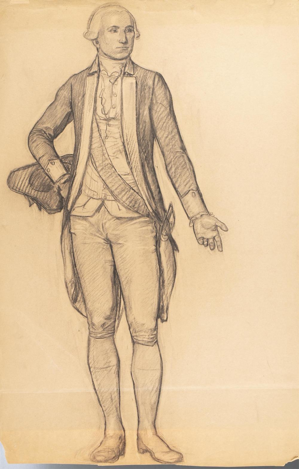 Lot 267: Cox. U.S. Capitol. George Washington Sketches.