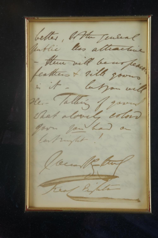 Lot 84: Baron Leighton of Stretton. Autograph Letter Sgd.