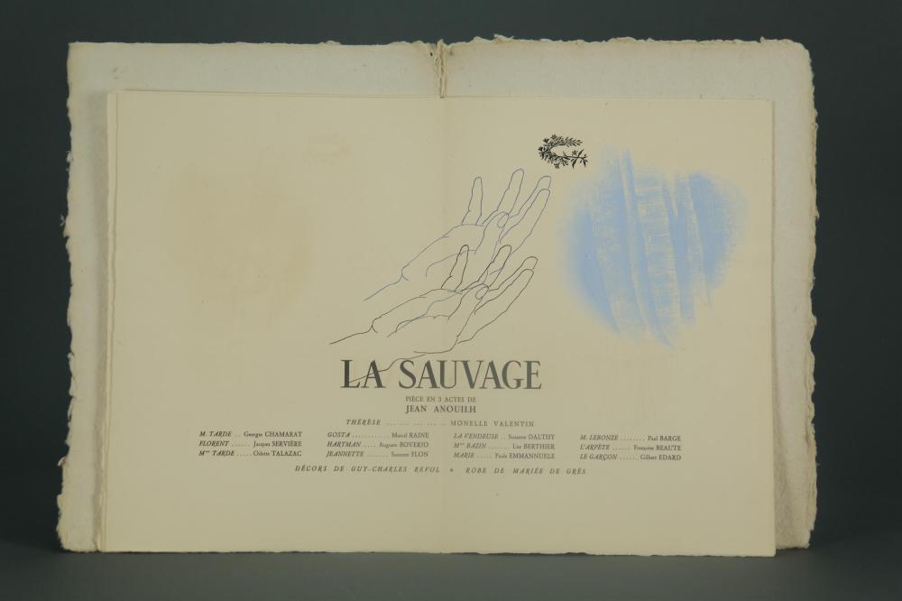 Lot 129: La Sauvage Theatre Program. Sgd/inscr. Valentin.