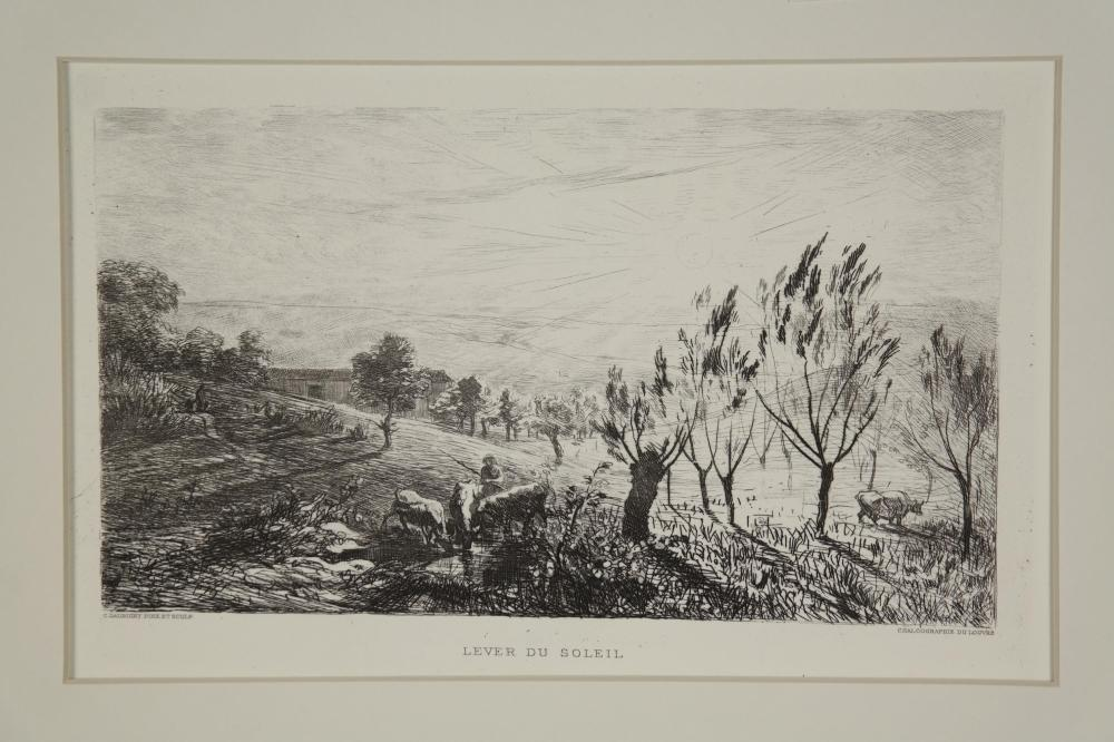 Lot 339: Charles-Francois Daubigny. Group of 8 prints.