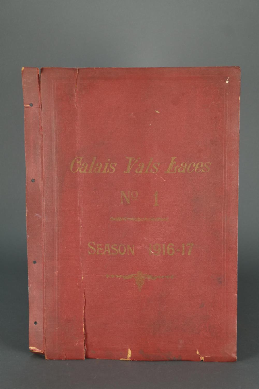 Lot 307: Calais Vals Laces sample book. 1916-1917.