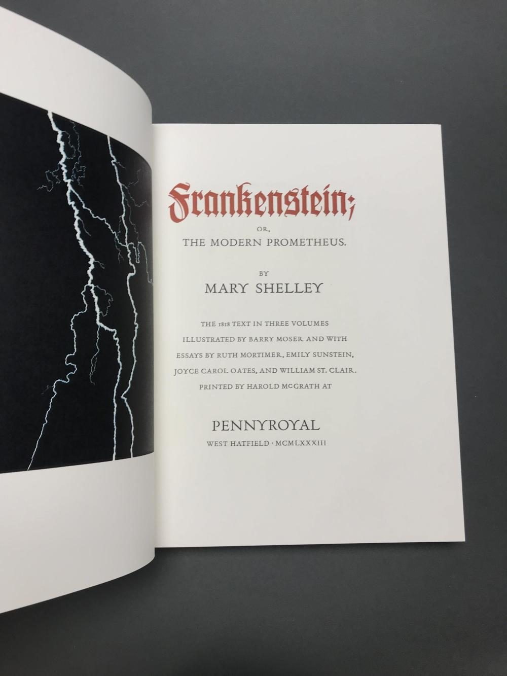 Lot 206: Shelley, [Moser, ill.] Frankenstein. 1983. 24/350.