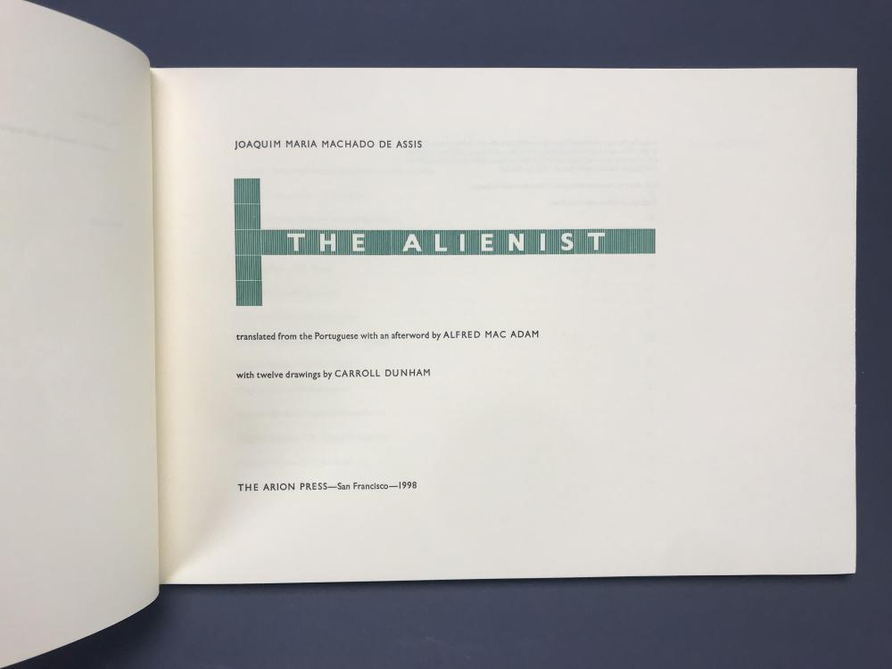 Lot 194: Arion Press. The Alienist. Number 128 of 250.
