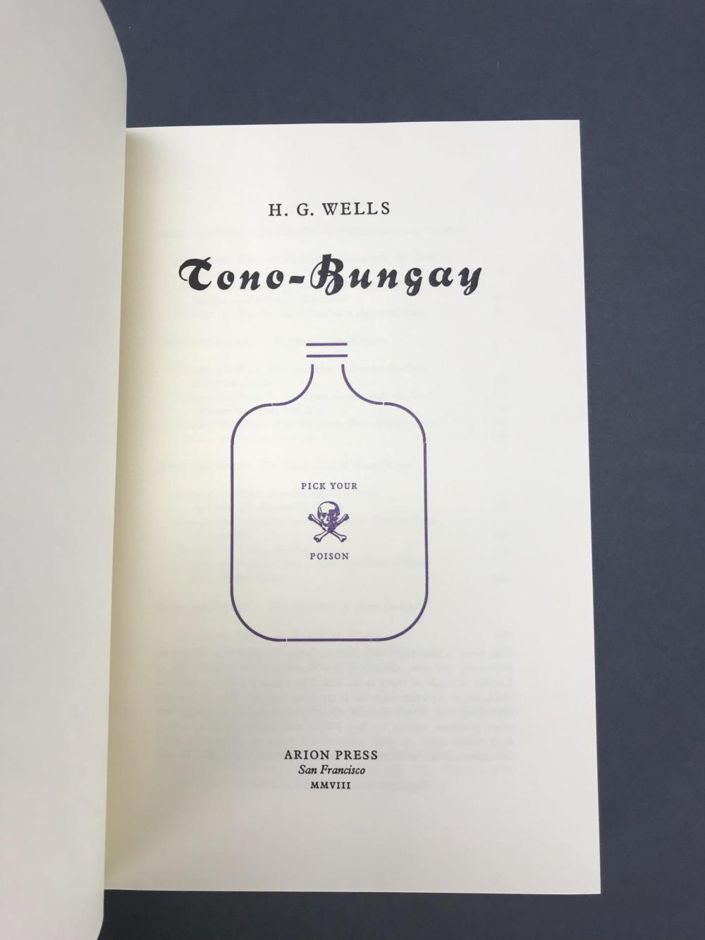 Lot 201: Arion Press. Tono-Bungay. Number 102 of 300.