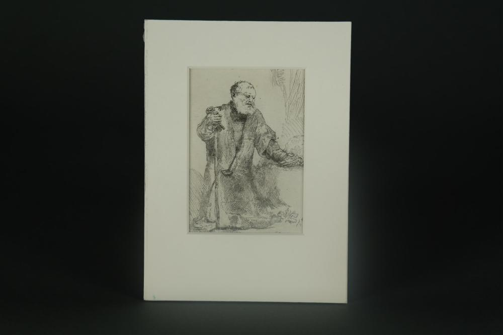 Lot 359: After Rembrandt. St. Peter in Penitence. ca18th c.