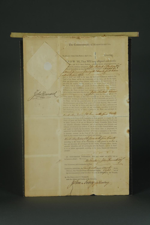 Lot 72: John Hancock Signed Document. 1781.
