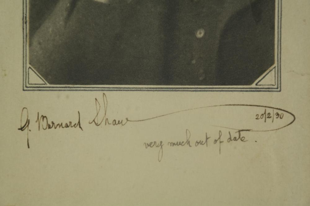 Lot 116: George Bernard Shaw. Portrait Signed.