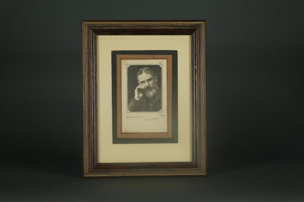 George Bernard Shaw. Portrait Signed.