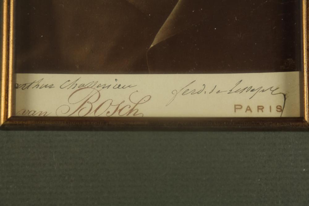 Lot 86: Vicomte de Lesseps. Vintage Cabinet Photo. Sgd.