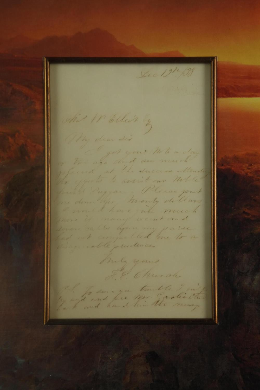 Lot 40: Frederick Edwin Church. Autograph Letter Sgd.1958