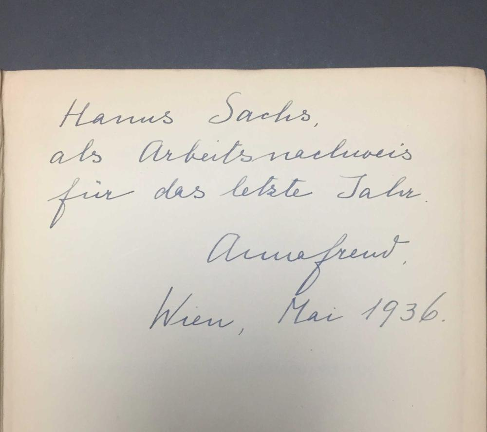 Lot 209: 2 vols. Psychology. Incl: 1 signed by Anna Freud.