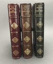 Lot 175: 3 vols. La Storia di Venezia. Custom Venetian Case