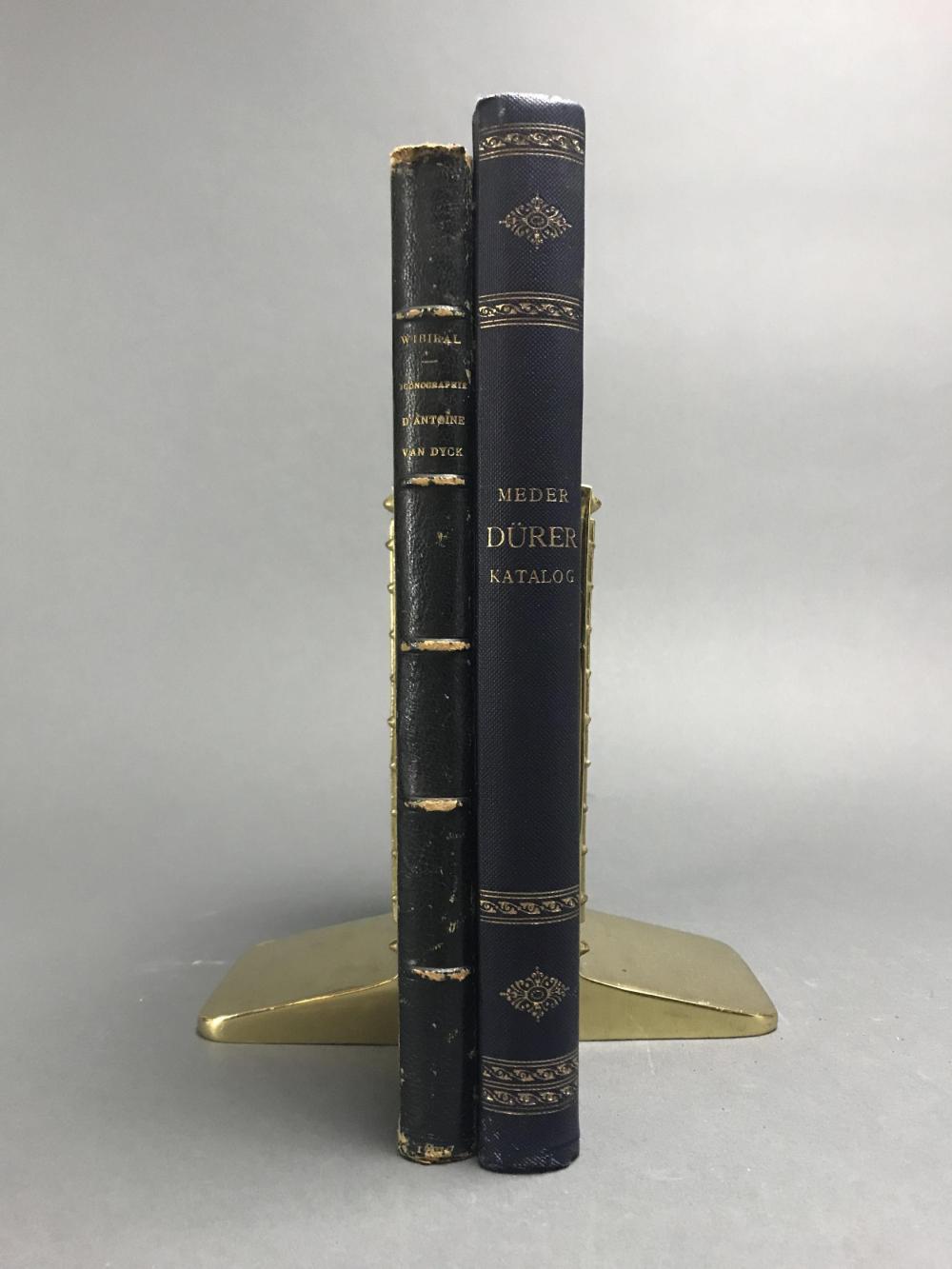 Lot 393: 2 vols. Old Masters. Incl: van Dyck. Durer.