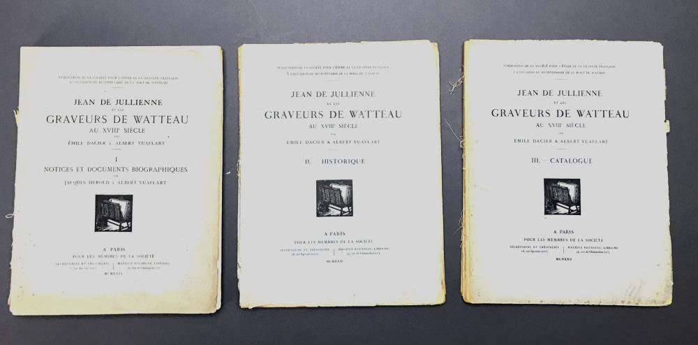 Lot 459: 4 vols. Watteau Catalogue Raisonne.