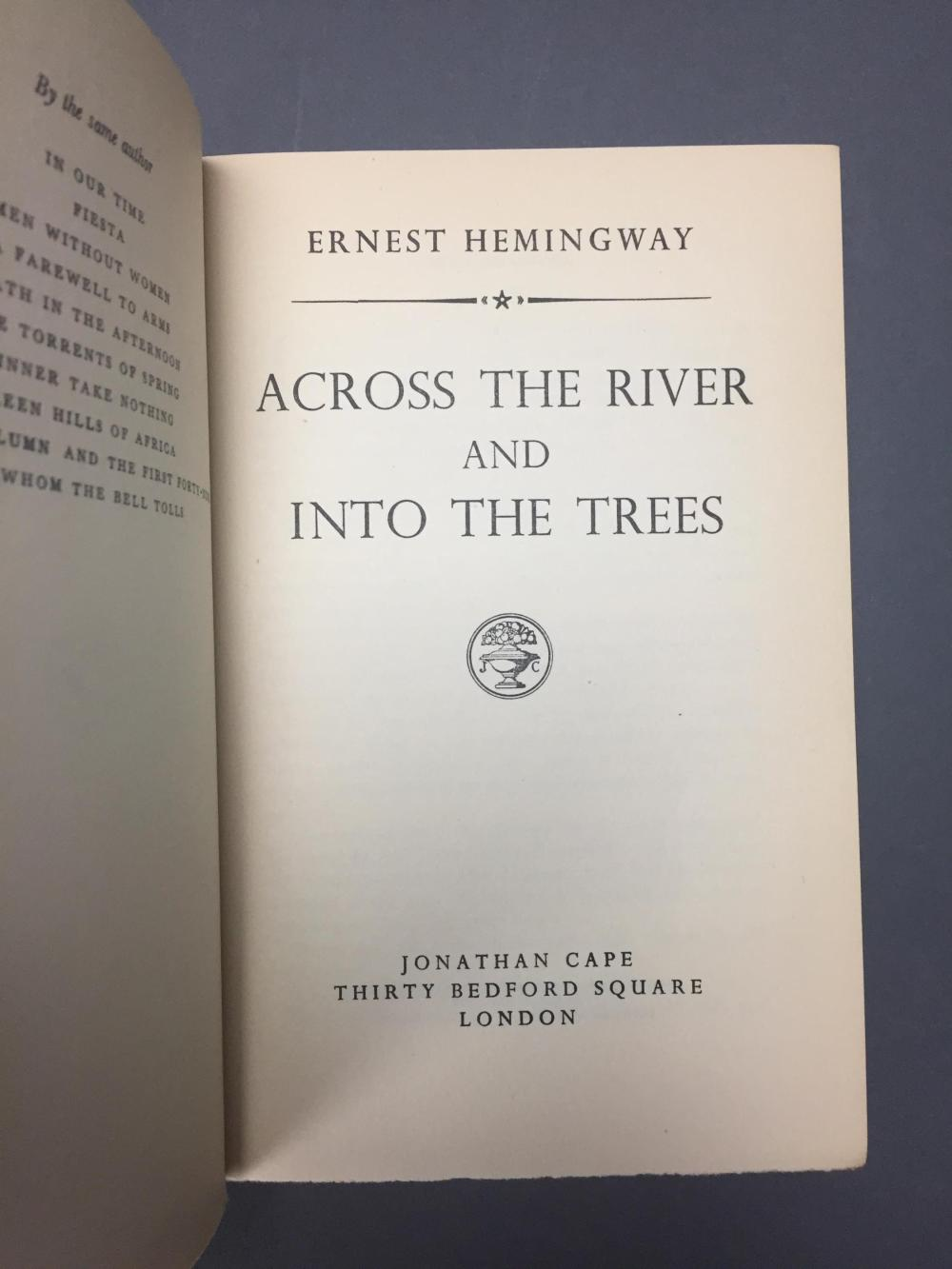Lot 186: 4 vols. Hemingway. Incl: Farewell to Arms. 1st ed.