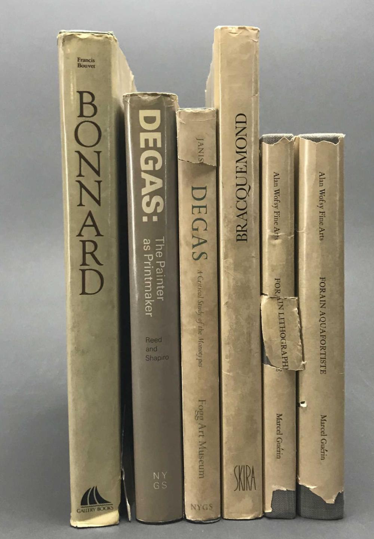 Lot 417: 6 vols. French Printmakers. Catalogue Raisonnes.