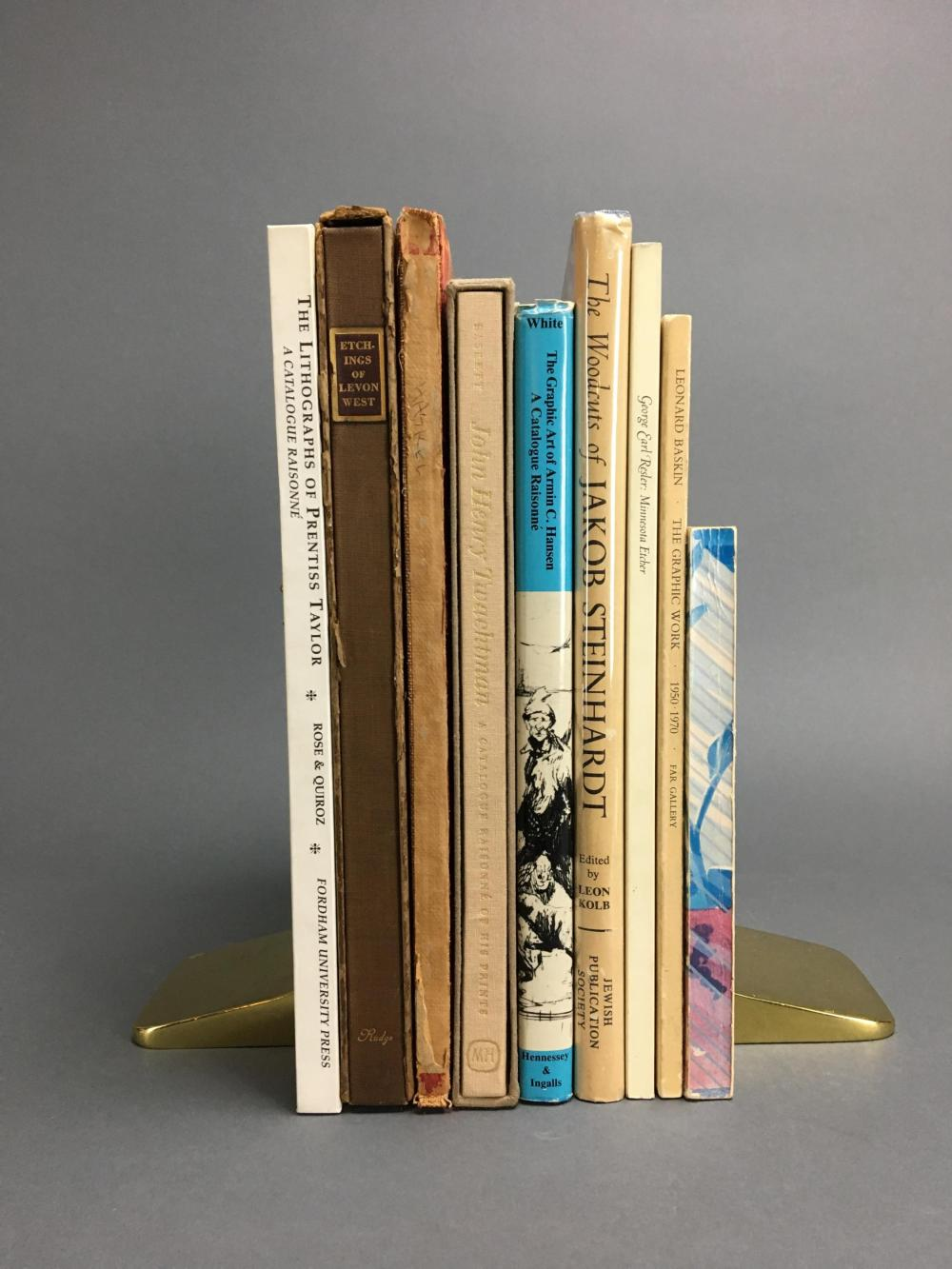 Lot 447: 9 volumes. American Printmakers. Catalogues.