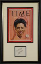 Lot 24: 2 Signed Pcs. Countee Cullen, Althea Gibson.