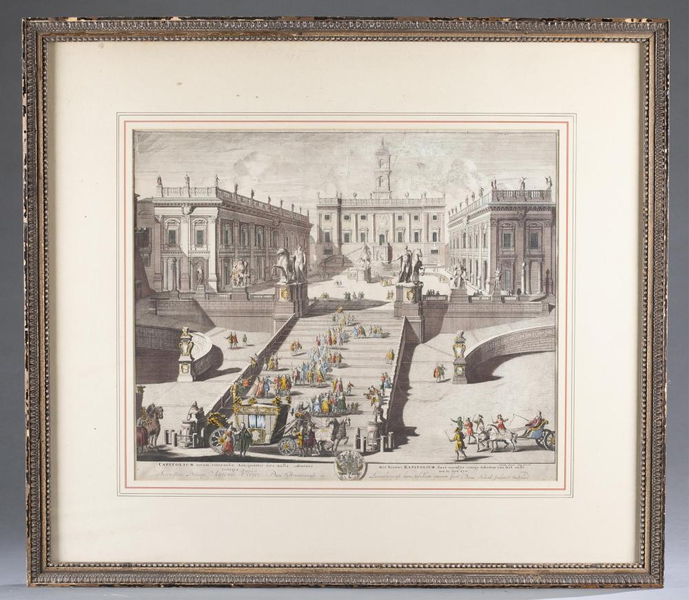 Lot 366: Schenck. Lithograph. View of Capitoline Hill.
