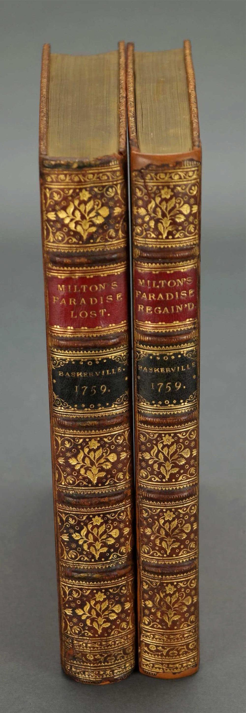 Lot 173: 2 vols. Milton's Paradise Lost & Regained. 1759.