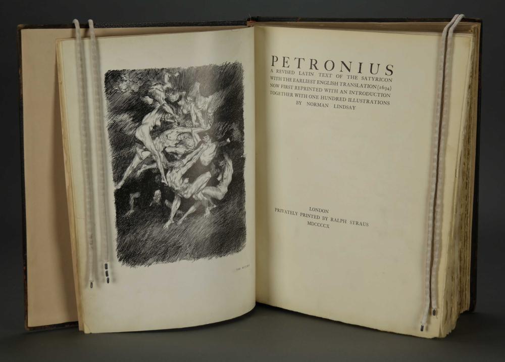 Lot 216: Petronius. Norman Lindsay. 1910. Signed.