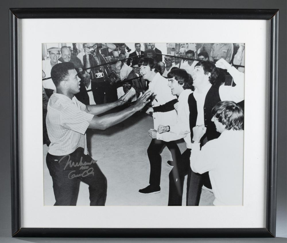 Beatles meeting Muhammad Ali Photo. Sgd by Ali.