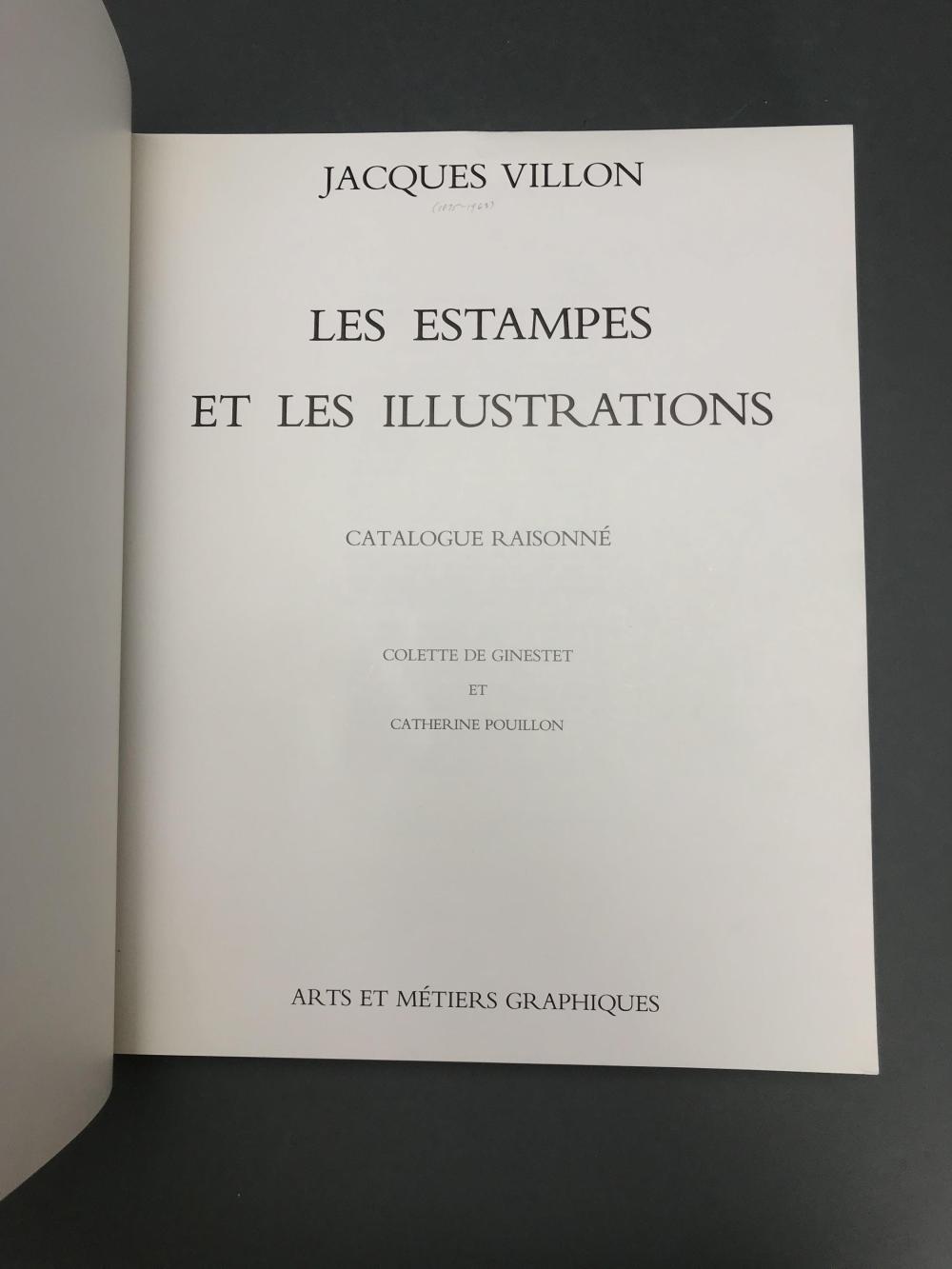 Lot 457: Jacques Villon. Catalogue Raisonne. 1962.