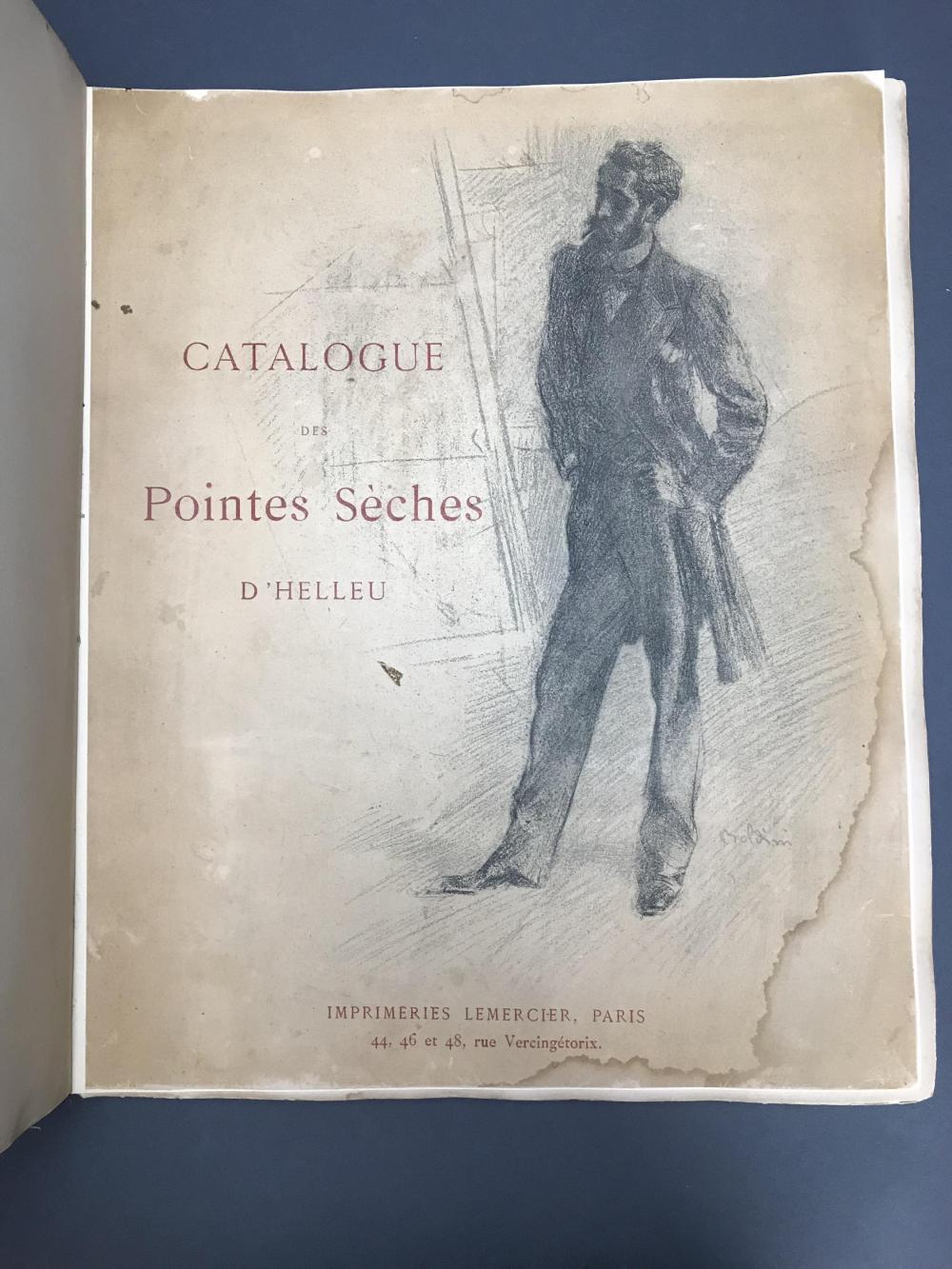 Lot 455: Paul Helleu. Catalogue Rasionne. 1897.