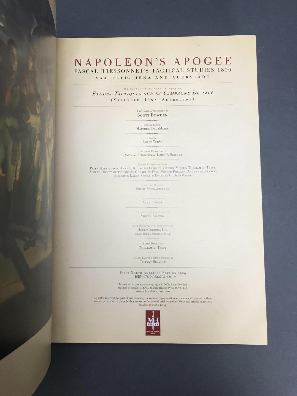 Lot 314: 2 vols on Military History. Incl: Napoleon.