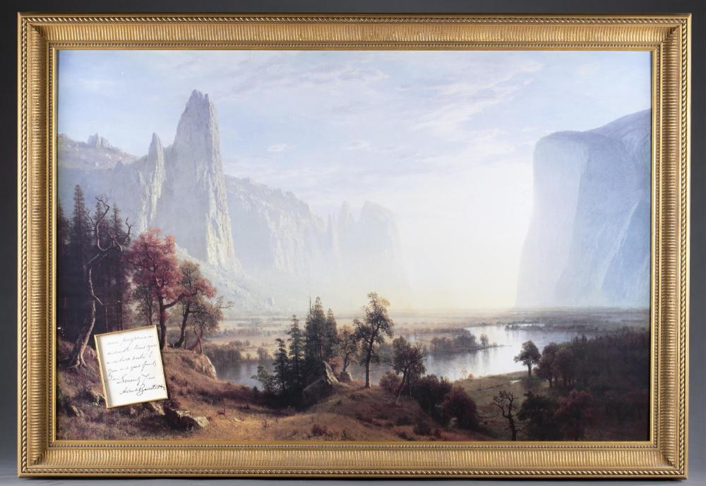 Albert Bierstadt. Autograph Letter Signed. c.1890.