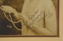 Lot 62: Geraldine Farrar. Vintage Photograph Sgd.