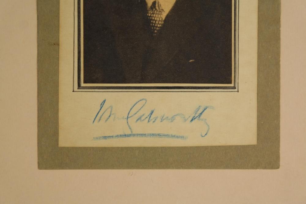 Lot 31: 3 Signed Pcs. Authors, incl: Shaw, Galsworthy.