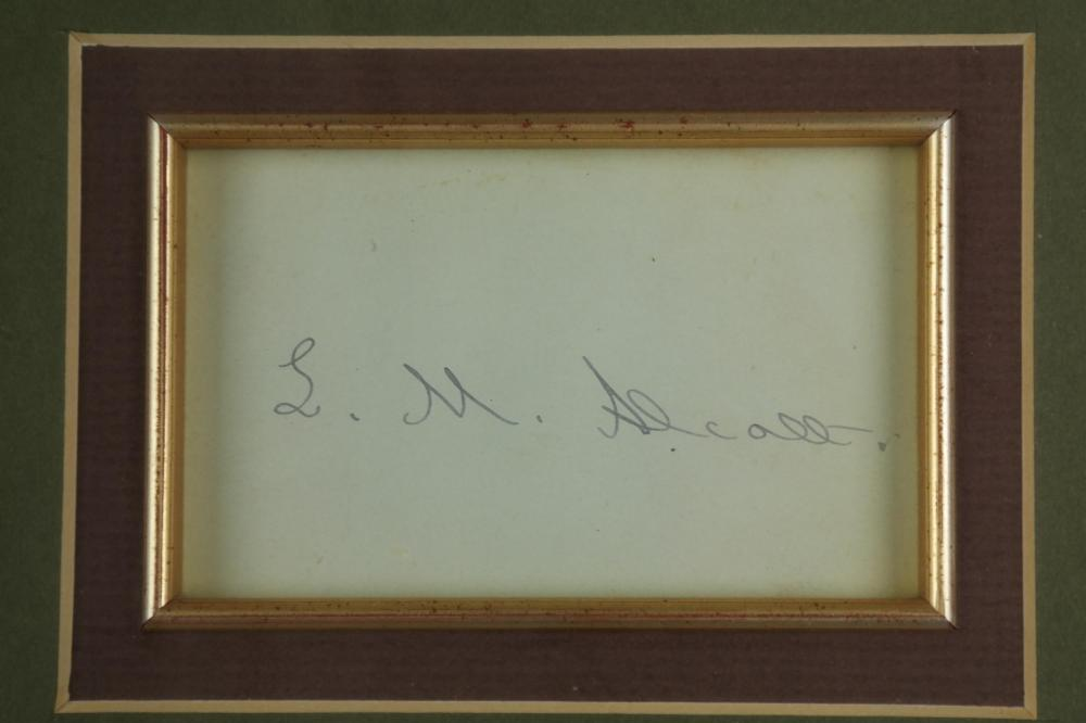 Lot 96: 4 Signed Pcs. Authors, incl: West, Alcott, Singer.