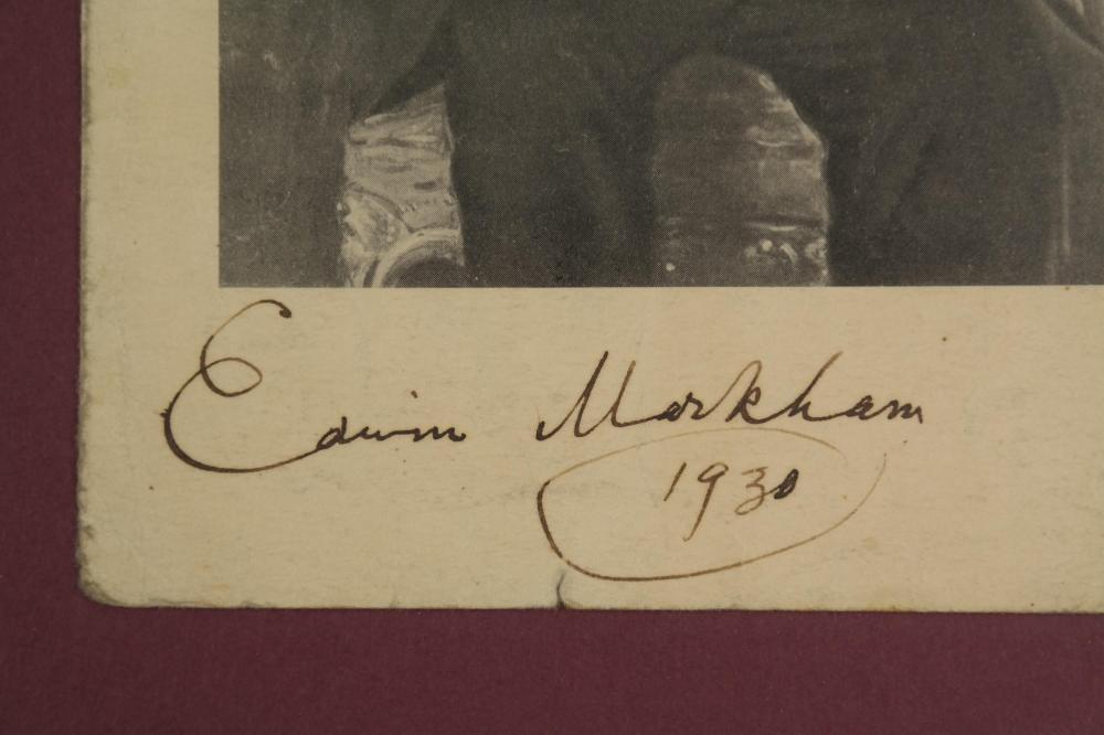 Lot 7: 5 Signed Pcs. Authors, incl: Grey, Markham.