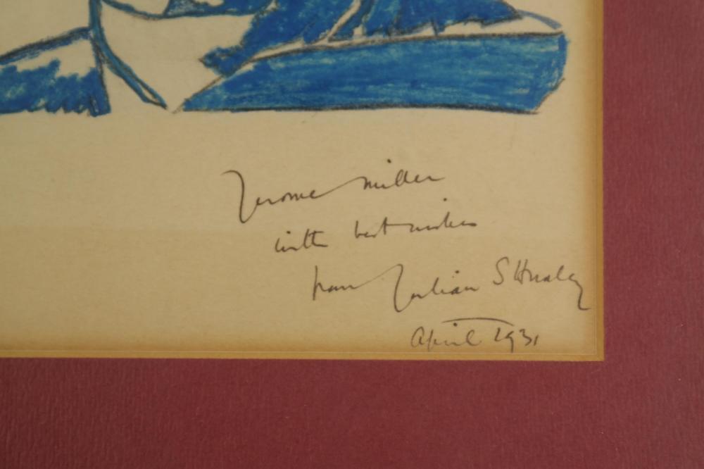 Lot 95: 4 Signed Pcs. Incl: Ellis, Eastman, Huxley, Beard.