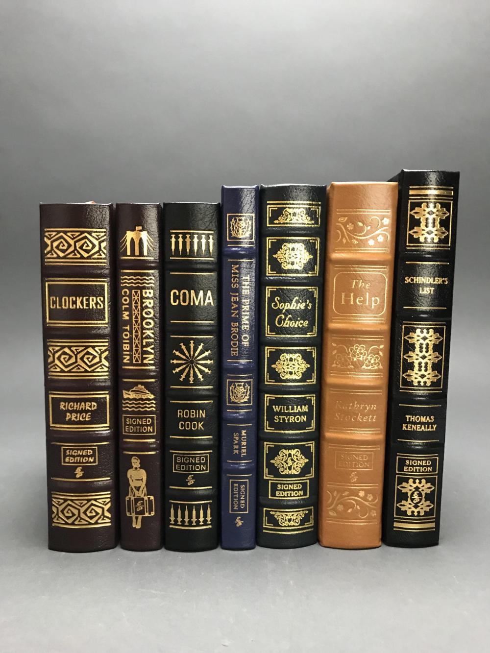 7 vols. Easton. Sgd. Books w/ film adaptations.