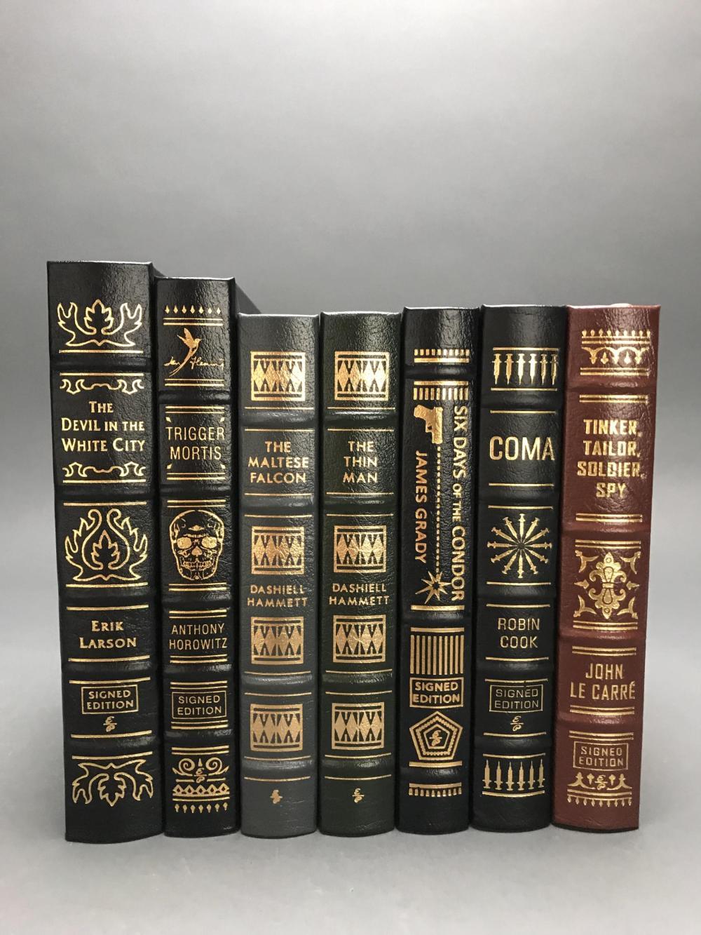 7 vols. Easton Press. Spy and Thriller Novels. Sgd