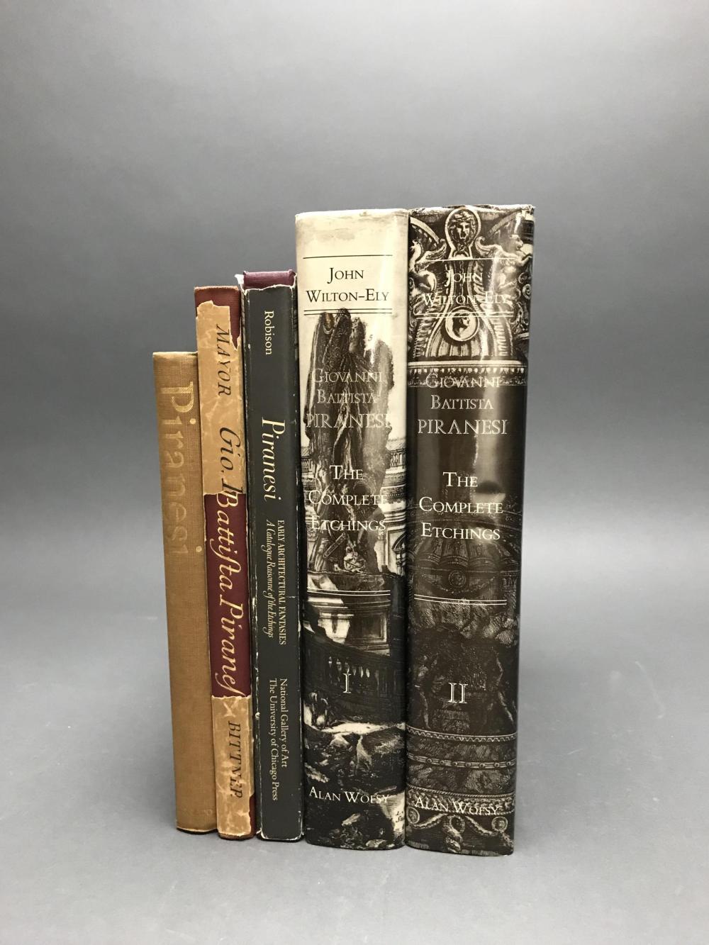 Lot 407: 6 vols. Piranesi Catalogue Raisonnes. Inc: Ely.