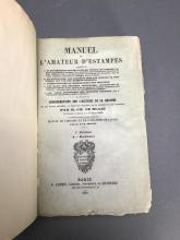 Lot 466: 4 vols. Manuel de L'Amateur D'Estampes. 1850.