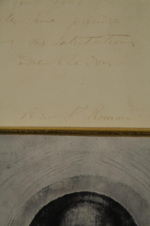 Lot 106: Odilon Redon. Autograph Letter Signed. 1887.