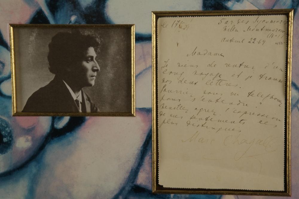 Lot 36: Marc Chagall. Autograph Letter Signed. c.1930.