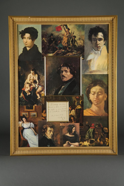 Lot 50: Eugene Delacroix. Autograph Note Signed. 1834.