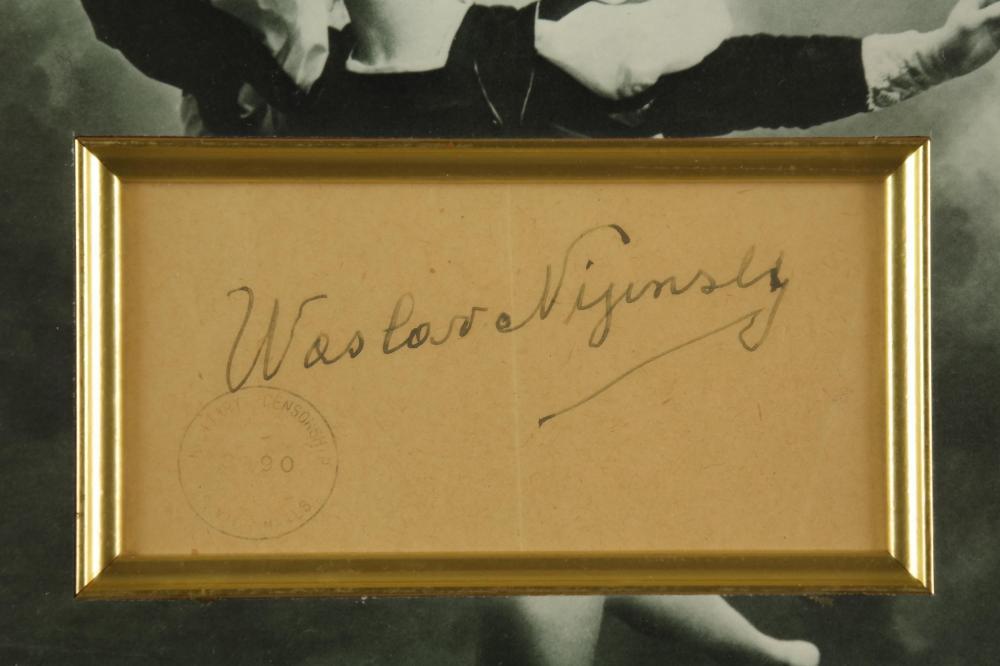 Lot 100: Vaslav Nijinsky. Signature and TLS.