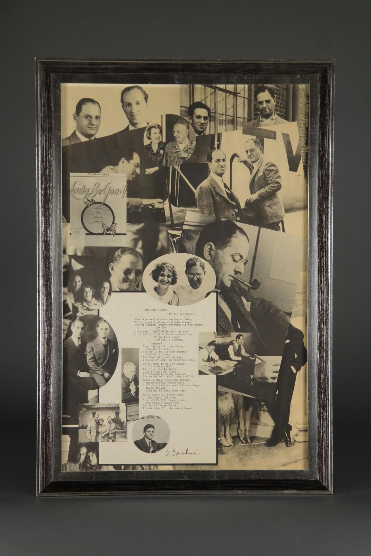 Lot 69: Ira Gershwin. Signed Typescript.