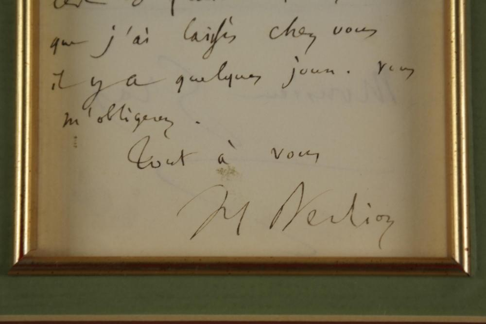 Lot 20: Hector Berlioz. Autograph Letter Signed.