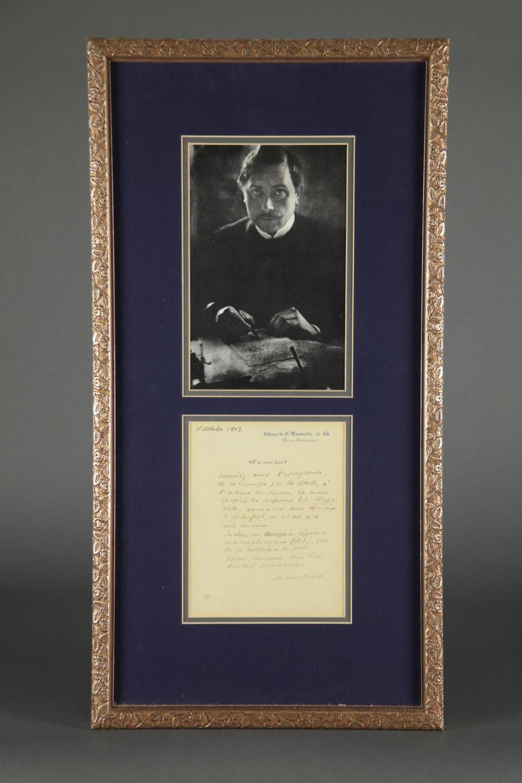 Maurice Maeterlinck. Autograph Letter Signed.