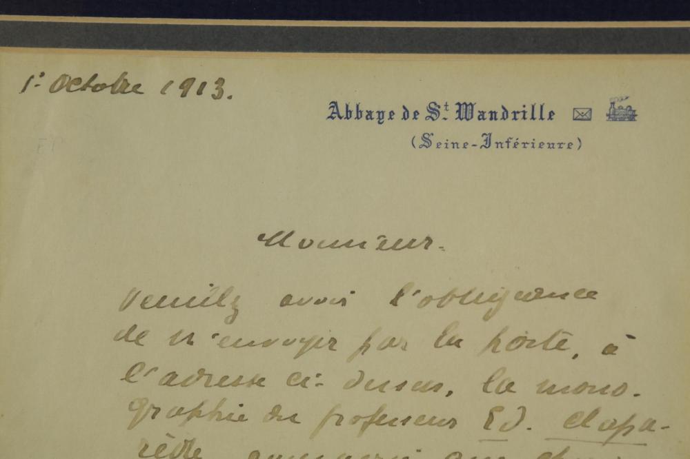 Lot 88: Maurice Maeterlinck. Autograph Letter Signed.